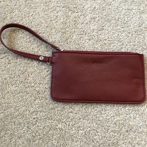 Nine West Thin Burgundy Wristlet Wallet